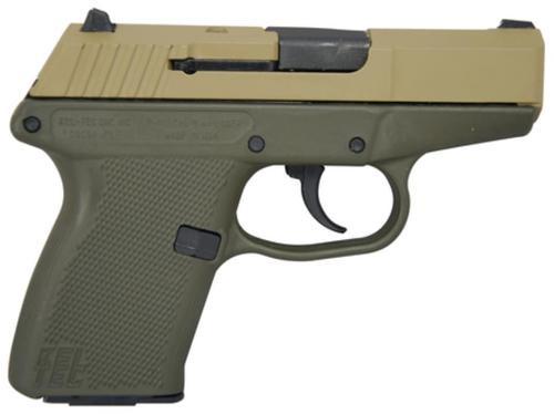 KelTec P-11 9mm 3.1 Inch Barrel Cerakote Tan Slide Cerakote OD Green Grip/Frame 10 Round