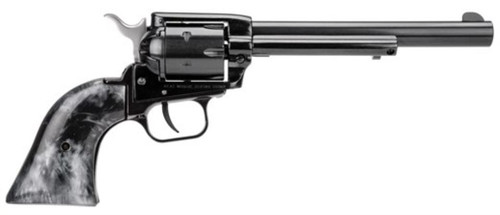 "Heritage Rough Rider 22LR, 6.5"" Barrel, Black Pearl Grip Blued Finish, 6rd"