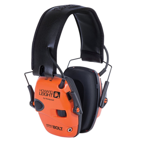 Howard Leight Impactsport Bolt Orange Electronic Earmuff - Industry Leading Attack Time!