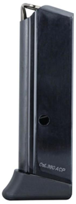 Mec-Gar Magazine PPK, Finger Rest .380ACP, Blued, 6rd