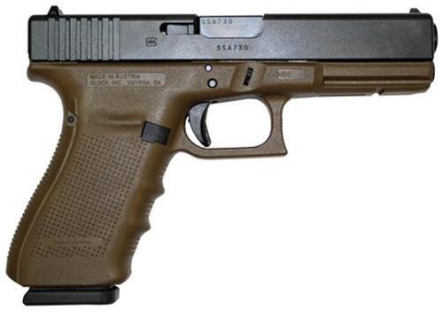 """Glock G21 Gen4, 45 ACP, 4.6"""",, , Flat Dark Earth Frame, FS,  10 rd"""