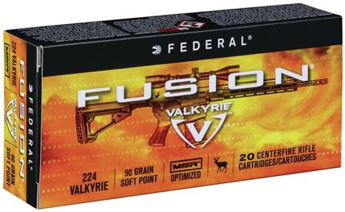 Federal 224 Valkyrie 90gr, Fusion 20rd Box
