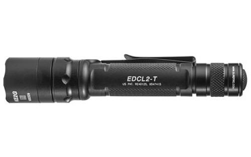 Surefire EDCL2-T Everyday Carry Light 2 Flashlight, 5/1200 Lumens, Black