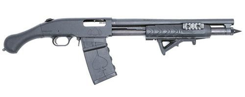 "Black Aces Tactical Shockwave, Mag Fed 12g, 15"", Tri-Rail Forend, Mag Tube Spike, 5rd Detachable Mag"