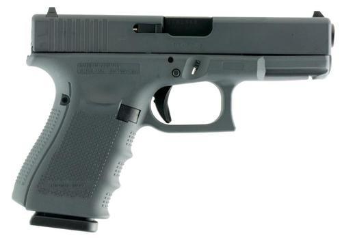 """Glock G19 Gen4, 9mm, 4.01"""", 15rd, Gray Frame/Slide, FS"""