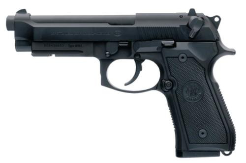 "Beretta 92FS M9A1 9mm LTD 4.9"" Barrel, Mil-Spec Rail, Black Synthetic Grip Black 15rd Mag"