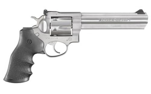 "Ruger GP100, .327 Federal Magnum, 6"" Barrel, 7rd, Hogue Grip, Stainless Steel"