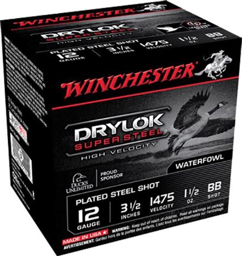 "Winchester Supreme Hi-Velocity Steel 12 Ga, 3.5"", 1-1/2oz, BB Shot, 25rd/Box"