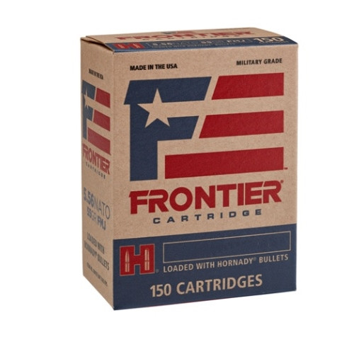Hornady Frontier 5.56mm, 55gr, Full Metal Jacket, M193, 150rd/box
