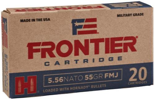Hornady Frontier 5.56x45mm NATO, 62gr, Full Metal Jacket, 20rd Box