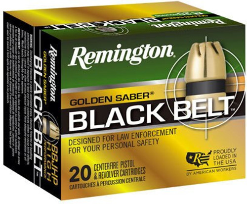 Remington Golden Saber Black Belt .40 S&W 180gr, Jacketed Hollow Point, 20rd Box