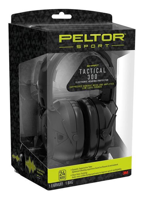 3M Peltor Sport Tactical 300 Electronic 24 dB Black