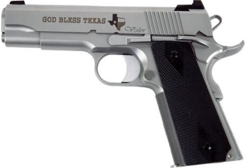 "Dan Wesson Valor Commander Texas Edition, 9mm, 4.25"", 9rd, Matte Stainless"