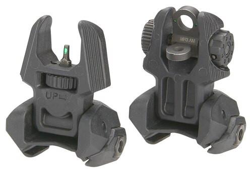 Meprolight Flip Up Front/Rear Sights with Tritium 2 Rear Dots AR-15/M4/M16