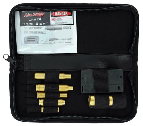 Aimshot KT Master Rifle Bore Sight Kit Green Laser Boresighter Arbor M