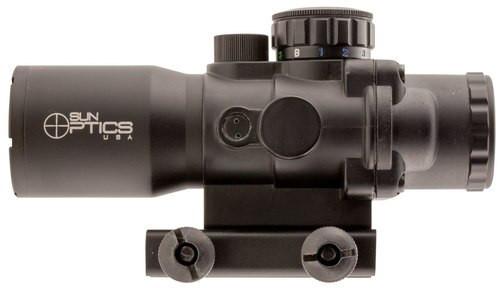 Sun Optics Tactical Precision 4x 32mm Obj 20 ft @ 100 yds FOV Black M