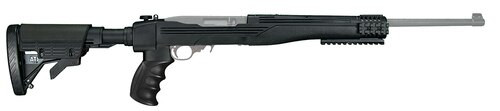 AdvTech Strikeforce Ruger 10/22 Rifle 6Pos Collapsible, Rails Poly Black