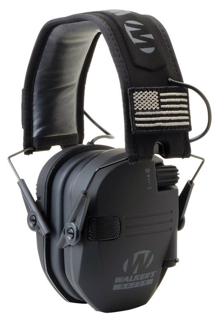 Walkers Game Ear Razor Patriot Earmuff 23 dB Black