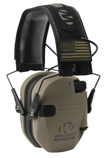 Walkers Game Ear Razor Patriot Earmuff 23 dB Flat Dark Earth