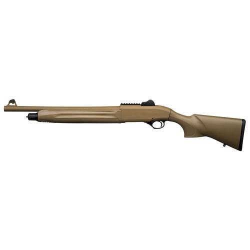 "Beretta 1301 Tactical 12Ga, 18.5"" Barrel, Flat Dark Earth, Synthetic Stock, Fixed Cylinder, 4Rd, Ghost Ring Sight"