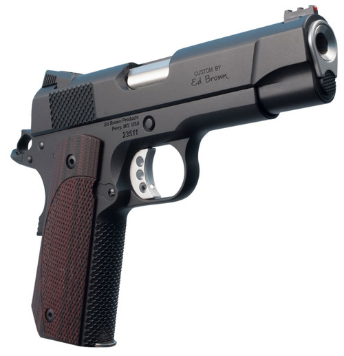 "Ed Brown Kobra Carry Lightweight Single 9mm 4.25"" Barrel, FOF Laminate Wood Grip Black Gen4 Stainless Steel, 8rd"