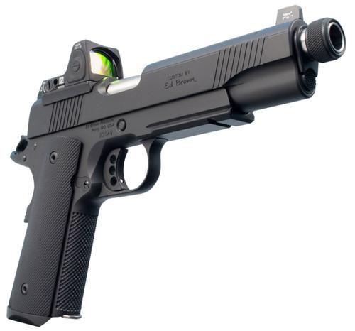 "Ed Brown Special Forces SR Single 45 ACP 5"" Threaded Barrel, NS/Red Dot Black Polymer Grip Black Gen4, 7rd"