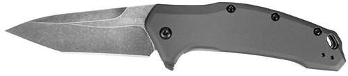 "Kershaw Link Knife 3.25"" 420HC Steel Tanto Black Machined Aluminum"