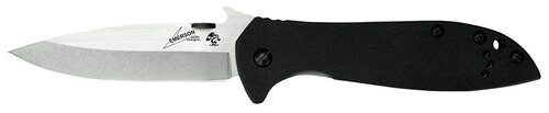 "Kershaw CQC Knife 3.9"" 8Cr15MoV Steel Drop Point G10 Front/Steel Back"