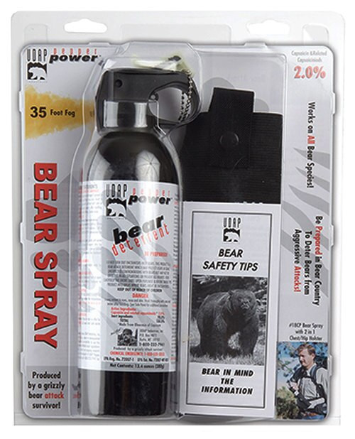 UDAP Super Magnum Bear Spray, Chest Holster 13.4oz/380g Up to 35 Ft Blac