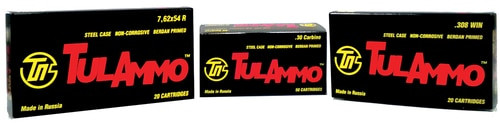Tulammo Centerfire Rifle 308 Win/7.62 NATO 165gr Spitzer, Steel Case, 20rd Box