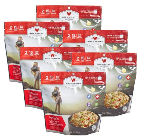 Wise Foods Outdoor Food Kit Teriyaki Chicken and Rice Dehydrated/Freeze D