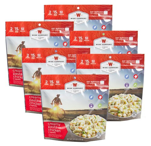 Wise Foods Outdoor Food Kit Creamy Pasta & Veggies Dehydrated/Freeze Drie