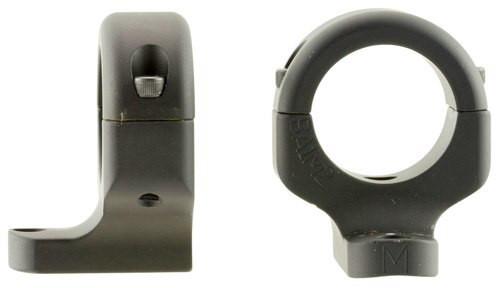 """DNZ 2-Piece Base/Rings For Browning A-Bolt III 1"""" Rings Medium Black Matt"""
