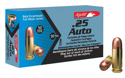 Aguila 25 Automatic Colt Pistol (ACP) 50gr Full Metal Jacket 50rd Box