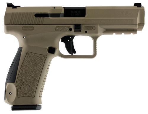 "Canik TP9SF, 9mm, 4.46"" Barrel, 18rd, Desert Tan Cerakote"