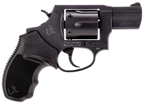 """Taurus, 856, Revolver, Small Frame, 38 Special, 2"""" Barrel, Steel Frame, Black, Rubber Grips, Fixed Sights, 6Rd"""