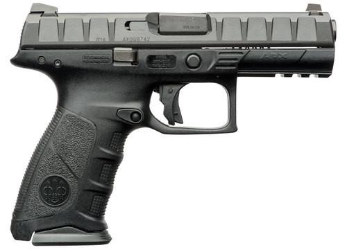 """Beretta APX, Semi-automatic, Striker Fired, Full Size Pistol, 9mm, 4.25"""" Barrel, Polymer, Black, 15Rd, 2 Mags, 3 Dot Sights"""