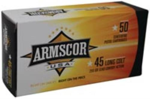 Armscor .45 Long Colt, 225gr, Lead, 50rd Box
