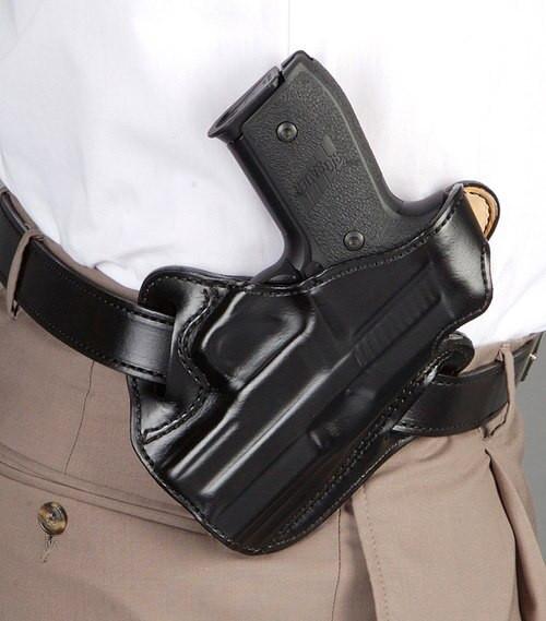 Desantis Thumb Break Scabbard Ruger LCR/LCRX Leather Black
