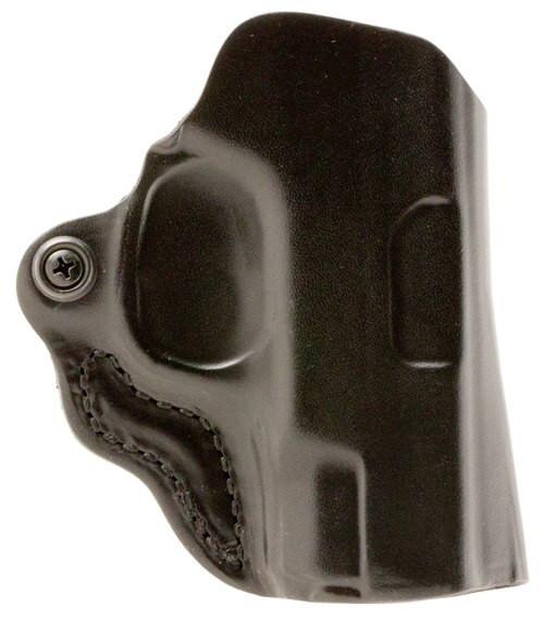 """Desantis Mini Scabbard S&W Shield 45 4"""" Barrel Leather Black"""