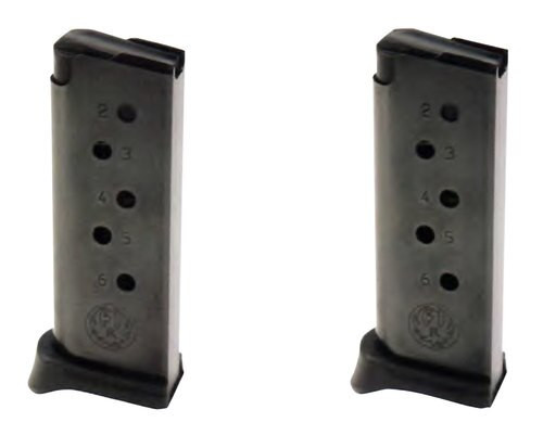 Ruger LCP 380 ACP Ruger LCP 6rd Black Detachable Pack of 2