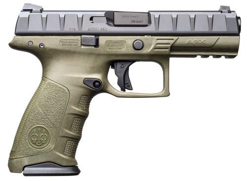 Beretta APX 9mm, 10rd, OD Green Frame, Black Slide, 3-Dot Sights