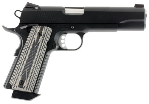 """Ed Brown California Special Forces, Semi-automatic, 1911, Full Size, 45ACP, 5"""" Barrel, Blued, Ambidextrous Safety, Night Sights, Titanium Firing Pin, Extra Heavy-Duty Firing Pin Spring, Black Sand G10 Grips, 7Rd, 2 Magazines"""