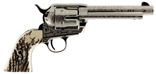"Taylor's 1873 Cattleman .45 Colt, 5.5"", 6rd, Ivory Synthetic Grips, Nickel"
