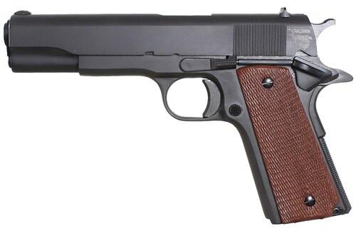 "Taylor's 1911 Standard, 45 ACP, 5"", 7rd, Walnut Grips, Blued"