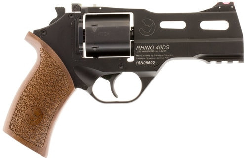 "Chiappa Rhino 40SAR, .357 Magnum, 4"" Barrel, 6rd, Walnut Grip, Black Stainless Steel"
