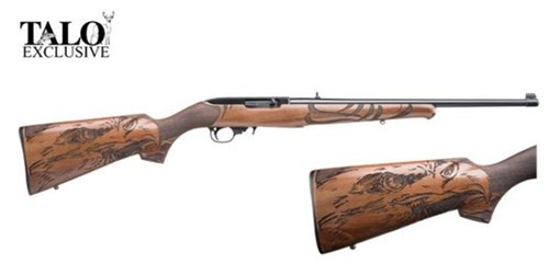 "Ruger 10/22 Eagle, 22LR, 18.5"", Laminated Engraved Eagle Stock, Blued, Talo Exclusive"