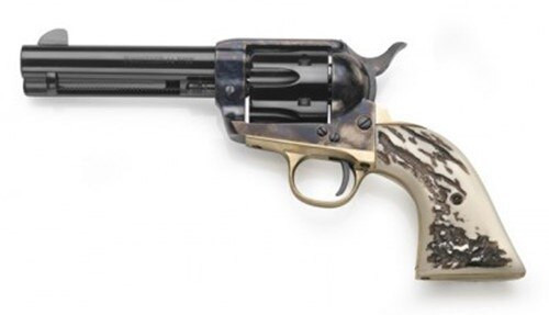 "Taylor's 1873 Cattleman .45 Colt, 4.75"" Barrel, Stag Imitation Grips, Blued, 6rd"