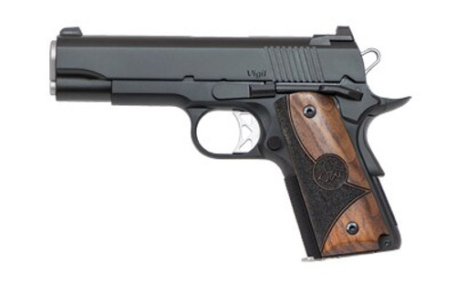 "Dan Wesson Vigil CCO 1911, 9mm, 4.25"", 8rd, Cocobolo Shadow Grips, Black SS"