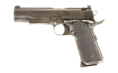 "Dan Wesson Specialist 1911, 45 ACP, 5"", 8rd, G10 Grips, Distressed Finish"